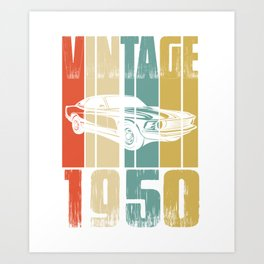 Vintage Retro 1950 T-Shirt Art Print