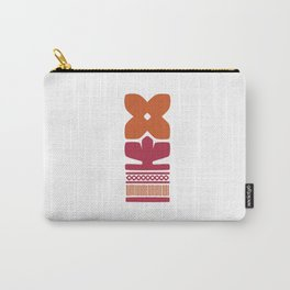 Nordic Orange Flower Carry-All Pouch