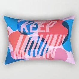 Keep Movin' Rectangular Pillow