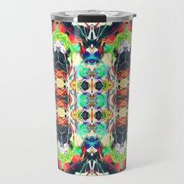 Strands of Color Pattern Travel Mug
