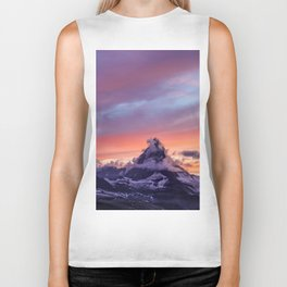 Himalayas Fishtail Mountain Sunset Biker Tank