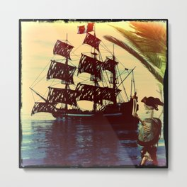 pirate ship Metal Print
