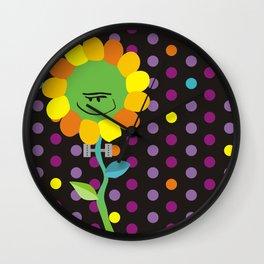 Frankenstein Flower Wall Clock