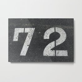 The 72 SOLD!  Metal Print