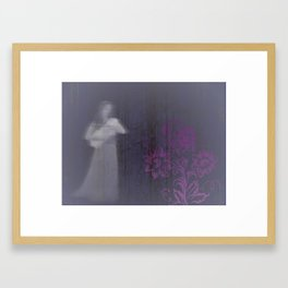 newborn, flower = life Framed Art Print
