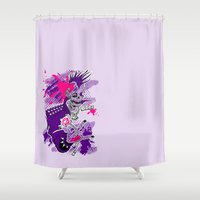 jojo Shower Curtains featuring Punk Is Not Dead by JoJo Seames