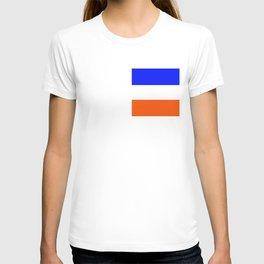 TEAM COLORS 8.....Orange, blue white T-shirt