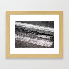Pot hole Framed Art Print