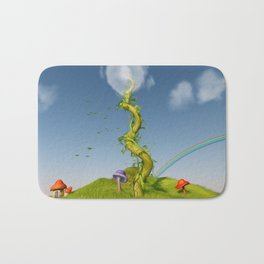 Whimsical Beanstalk Art Bath Mat