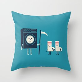 Grim Washer Throw Pillow
