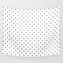 Little Dots Black on White Wall Tapestry
