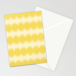 Four Shades of Yellow Circles Stationery Cards