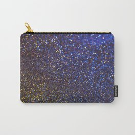 Blue and Gold Sparkles Carry-All Pouch