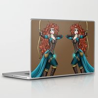 merida Laptop & iPad Skins featuring Steampunk Merida by Hungry Designs