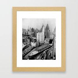 Largest travel Chicago River Chicago Illinois Framed Art Print