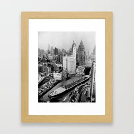Largest travel Chicago River Chicago Illinois Framed Art Print