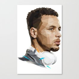 Curry low poly Canvas Print