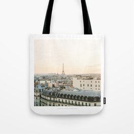 On the rooftops of Paris Tote Bag