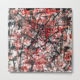 Triple X- black and red Metal Print