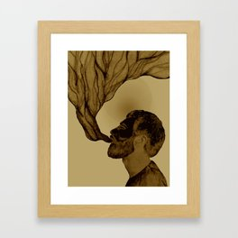 smoking man Framed Art Print
