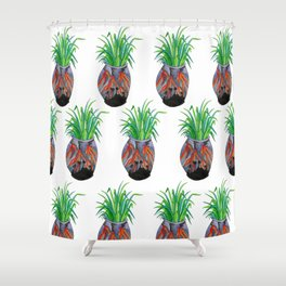 Volcano Vase Shower Curtain