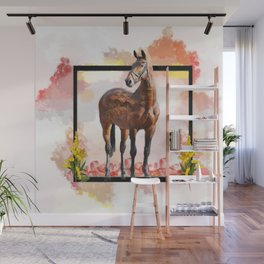 KY Thoroughbred Sunset Wall Mural