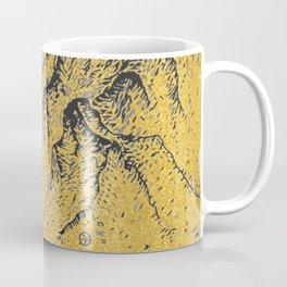 """遠望 series -""""Gold Valley"""" - Linocut Coffee Mug"""