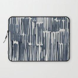 Simply Bamboo Brushstroke Indigo Blue on Lunar Gray Laptop Sleeve