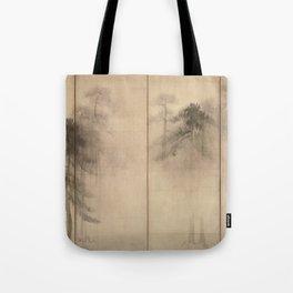 Pine Trees Six-Fold Azuchi-Momoyama Period Japanese Screen - Hasegawa Tohaku Tote Bag