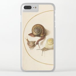 Naturalist Snails Clear iPhone Case