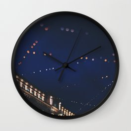 christmas lights ...  Wall Clock