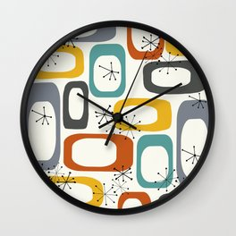 Mid Century Modern Shapes 02 #society6 #buyart Wall Clock