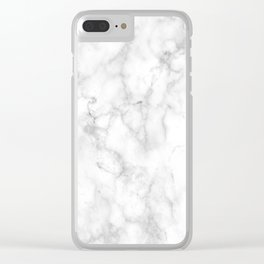 Marble Texture Surface 11 Clear iPhone Case