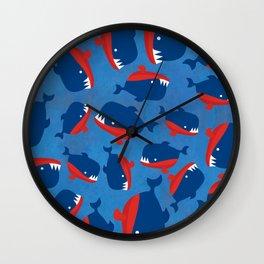 Cheeky Piranhas Wall Clock