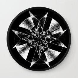 Inverted Crystalline Compass Wall Clock