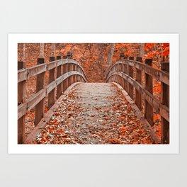Ruby Red Bridge Art Print
