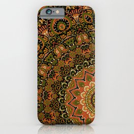 Kashmir Embroidery Look Mandala  iPhone Case