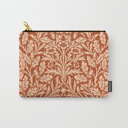 Art Nouveau Floral Damask, Light Mandarin Orange Carry-All Pouch