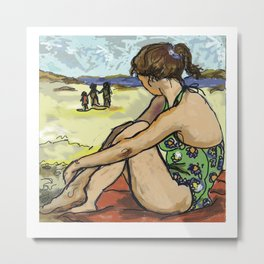 Dolly Dreaming (Saw Sea Series) Metal Print