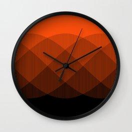 Orange to Black Ombre Signal Wall Clock