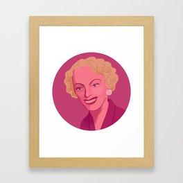 Queer Portrait - Christine Jorgensen Framed Art Print