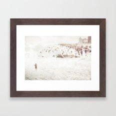 Coney Island 2014 - Beach Framed Art Print