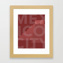 MEXICO CITY EL CASTILLO WALL ART Framed Art Print