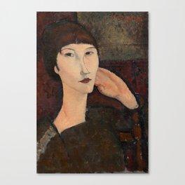 "Amedeo Modigliani ""Adrienne (Woman with Bangs)"" (1916) Canvas Print"