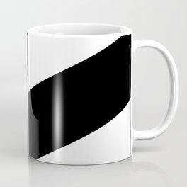 BLACK AND WHITE |DIAGONAL STRIPES| thick Coffee Mug