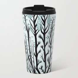 Plant with Blue Flowers Metal Travel Mug