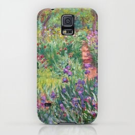 The Iris Garden at Giverny by Claude Monet iPhone Case