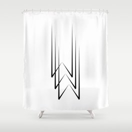""""""" Eclipse Collection"""" - Minimal Letter W Print Shower Curtain"""
