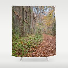 Fall Power House Trail Shower Curtain