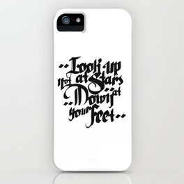 Look Up At Stars iPhone Case